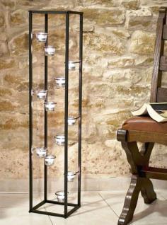 lichtsaule teelichthalter 100cm teelicht stander fur 12 teelichter 93004 kerzenhalter