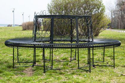 rundbank xxl d 200cm aus metall bank baumbank sitzbank. Black Bedroom Furniture Sets. Home Design Ideas