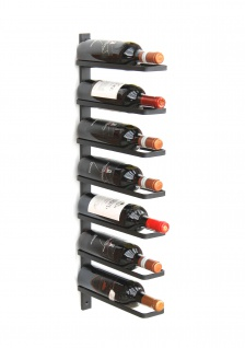 DanDiBo Weinregal Metall Wand Schwarz 93885 Flaschenregal Flaschenhalter Wandmontage Modern Wandhalter Wandregal für 7 Flaschen - Vorschau 4