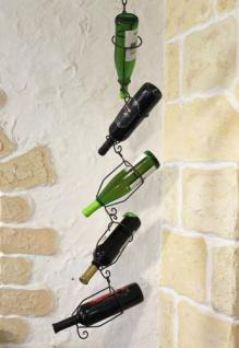 Flaschenhalter 95206 zum hängen 5-Tlg. 110cm a. Metall Flaschenständer Weinregal