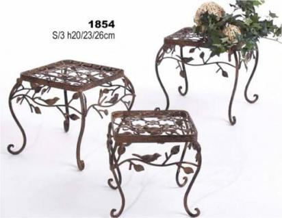 Blumenhocker Avis 3er Set 1854 Blumenständer Pflanzenständer Hocker