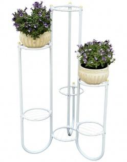 DanDiBo Blumentreppe Metall Weiß 93922 Pflanzenentreppe 101 cm Blumenregal Pflanzenständer Blumenständer