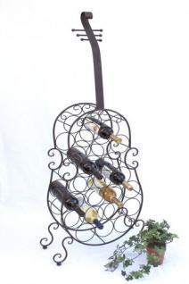 Weinregal Cello aus Metall 100136 Flaschenhalter 134cm Flaschenregal Wein Bar