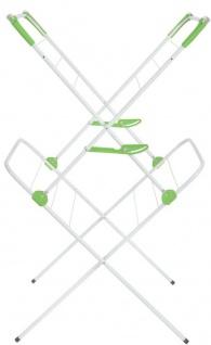 DanDiBo Wäscheständer Turm klappbar 2 Ebenen Standtrockner 93919 Wäschetrockner Wäscheturm Faltbar Schmal Metall ohne Rollen Platzsparend Zusammenklappbar