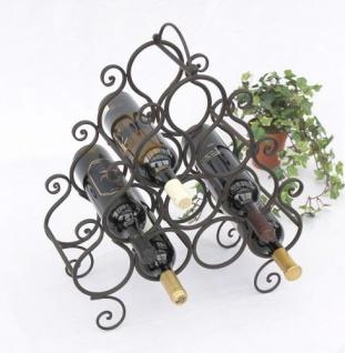 Weinregal JC130060 aus Metall für 10 Flaschen Flaschenhalter 52cm Flaschenregal
