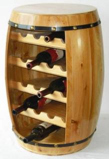 Weinregal Weinfass Fass aus Holz H-70cm Nr.0371 Flaschenständer