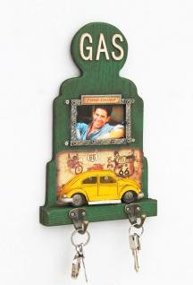 Schlüsselhaken 22608 Grün 33 cm Schlüsselleiste mit Bilderrahmen Wandhaken Handtuchhaken Schlüsselboard Haken