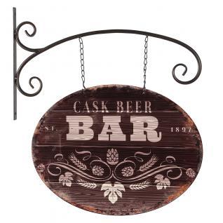 Blechschild Hängeschild Pub Bar Schild mit Haken Barschild Metall Wand