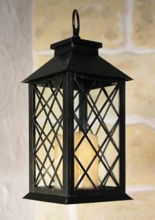 Laterne mit LED Kerze 60004 Windlicht 33cm Kerzenleuchter Batteriebetrieben - Vorschau 2