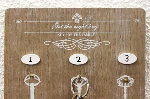 Schlüsselboard mit Ablage 18238 Schlüsselkasten Memoboard 30cm Schlüsselleiste - Vorschau 2