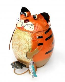 Abfalleimer Katze Motiv Treteimer BL80 Mülleimer Metall Dekoeimer mit Inneneimer Papierkorb Dekomülleimer Eimer Katzen