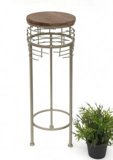 Blumenhocker Metall 21288-S Blumenständer 63 cm Rund Beistelltisch Modern