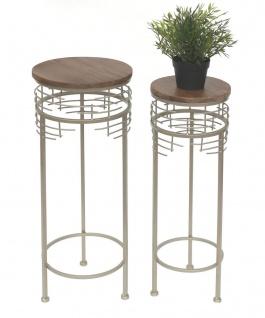Blumenhocker Metall 21288 2er Set Blumenständer Rund Beistelltisch Modern