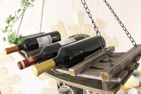 Weinregal 5089 Deckenregal aus Holz 65cm Hängeregal Flaschenhalter Flaschenregal - Vorschau 2