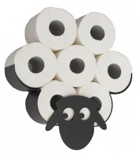 DanDiBo Toilettenpapierhalter Wandmontage Schwarz Metall Schaf WC Ersatzrollenhalter Papierhalter Rollenhalter
