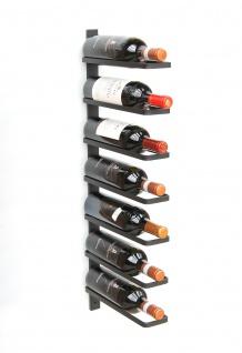 DanDiBo Weinregal Metall Wand Schwarz 93885 Flaschenregal Flaschenhalter Wandmontage Modern Wandhalter Wandregal für 7 Flaschen - Vorschau 3