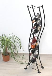 Weinregal ST099 Flaschenständer 120 cm Flaschenhalter Flaschenregal aus Metall