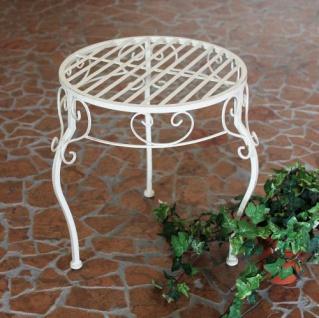 Blumenhocker Romance 35cm Blumenständer 20218 Pflanzenständer Beistelltisch Weiß - Vorschau 5