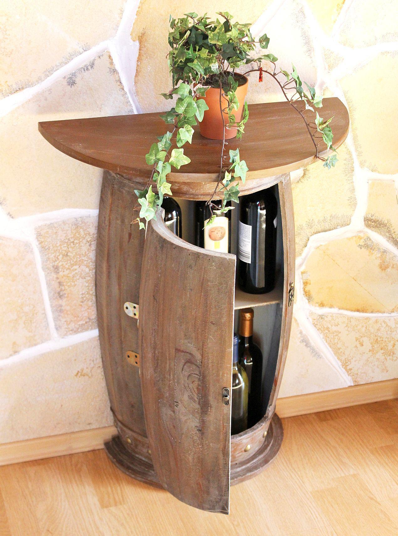 Dom I Meble Wandtisch Tisch Weinfass 0373 Schrank Weinregal Fass Aus Holz 73 Cm Akcesoria Do Wina I Barowe A2btravel Ge