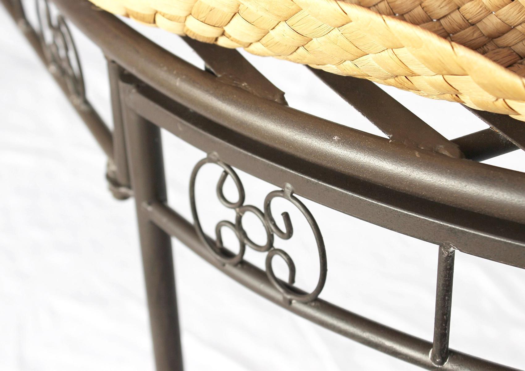 dandibo gartenbank wetterfest aus metall bank sitzbank 2 sitzer dy140486 braun 120 cm. Black Bedroom Furniture Sets. Home Design Ideas