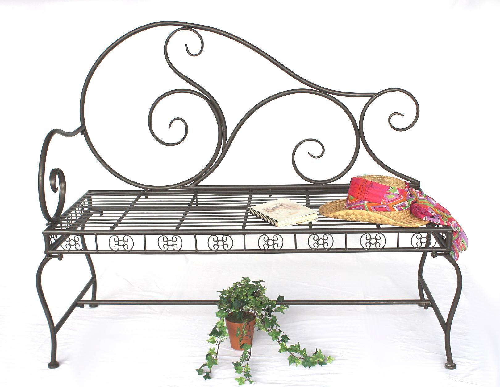dandibo gartenbank wetterfest aus metall bank sitzbank 2 sitzer dy140488 braun 123 cm. Black Bedroom Furniture Sets. Home Design Ideas