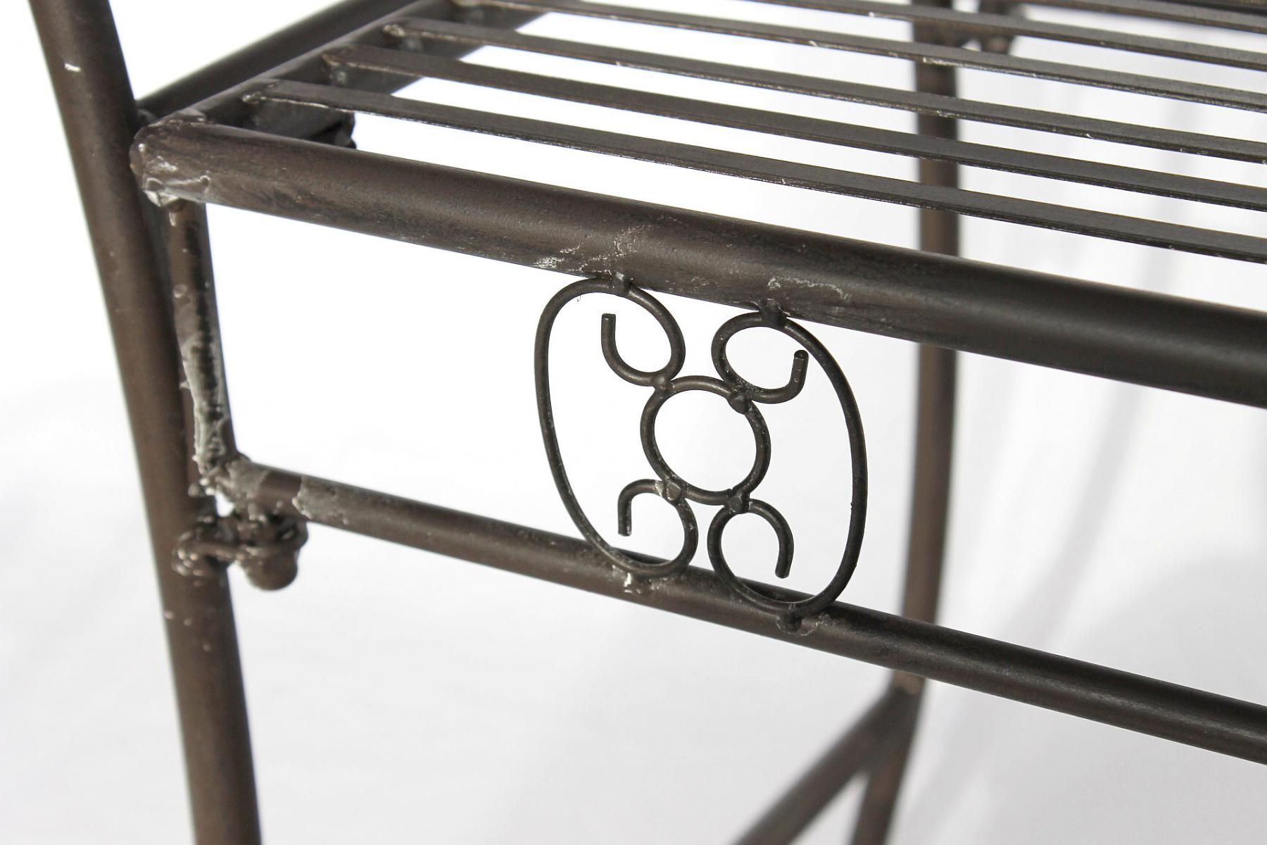 dandibo gartenbank wetterfest aus metall bank sitzbank 2 sitzer dy140491 braun 138 cm. Black Bedroom Furniture Sets. Home Design Ideas