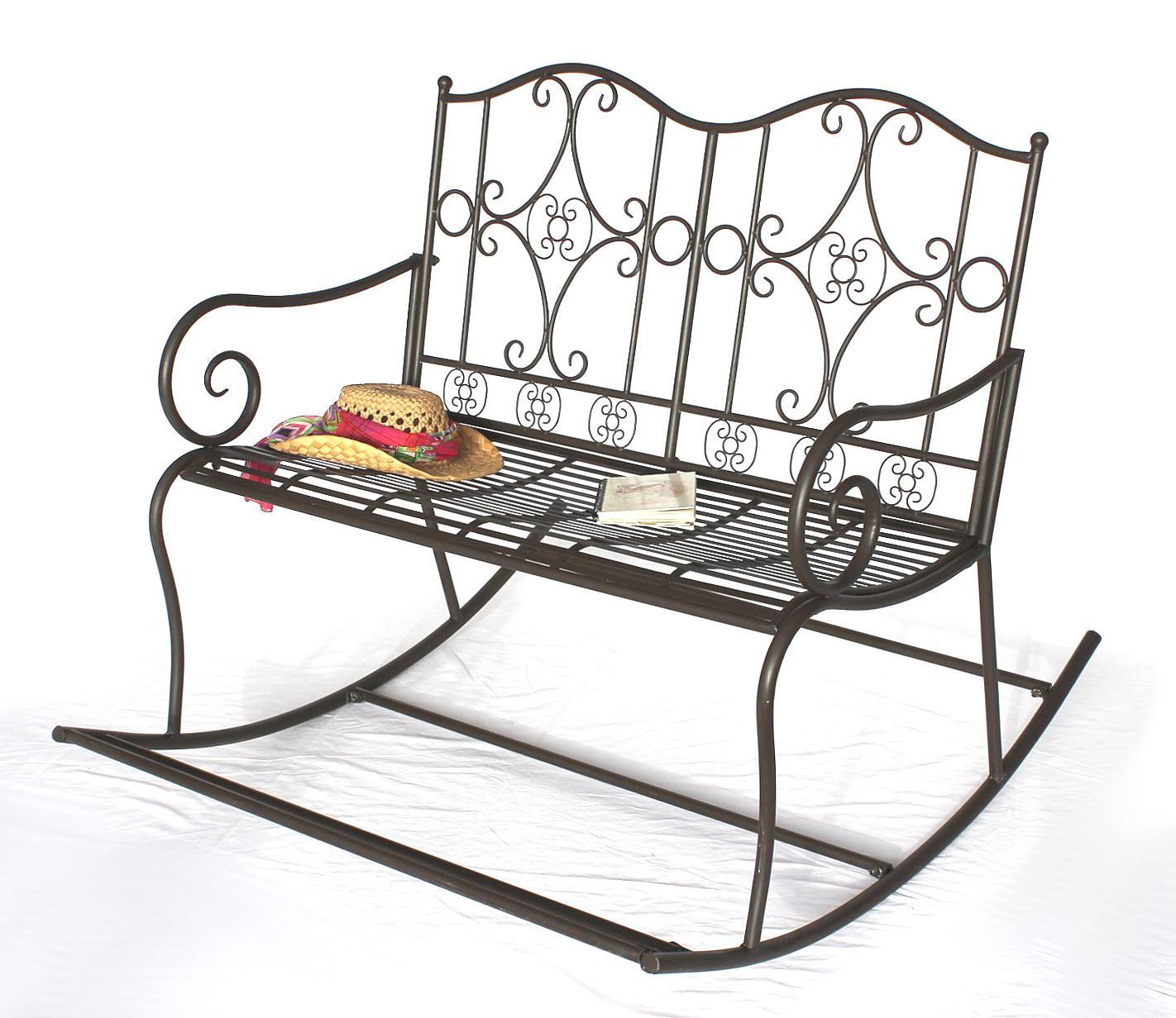 dandibo schaukelbank gartenbank wetterfest aus metall bank schaukel sitzbank 2 sitzer dy140489. Black Bedroom Furniture Sets. Home Design Ideas