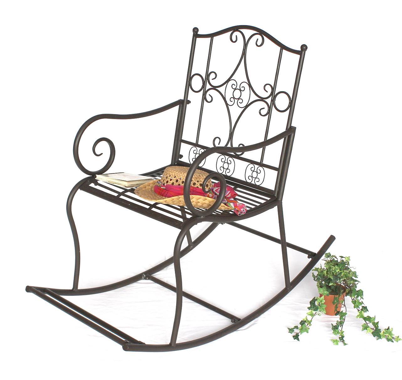 Free Dandibo Garten Gartenstuhl Metall Stuhl Schaukel Dy Braun Eisen Antik  With Metallstuhl