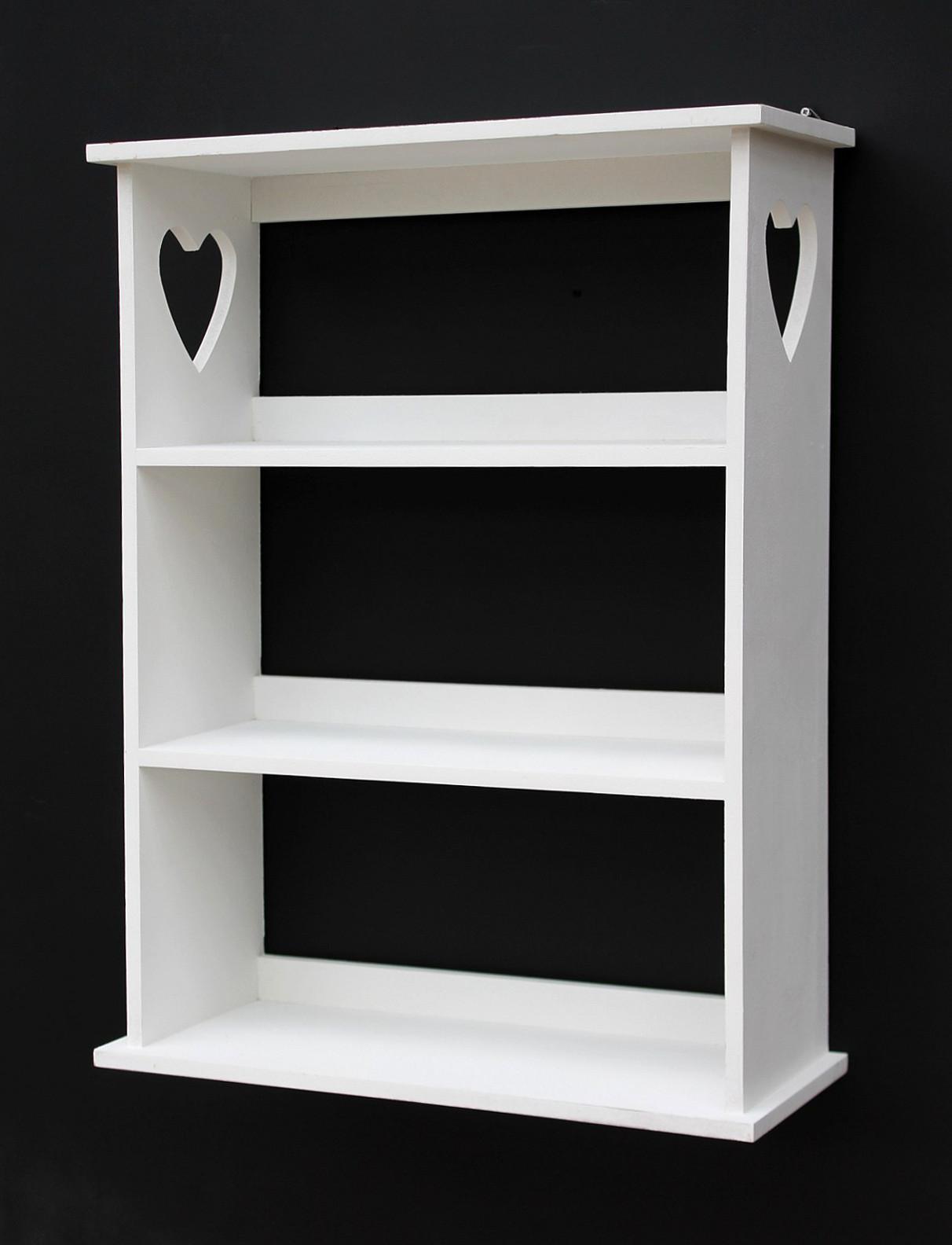 wandregal mit herz 12013 regal 50cm vintage shabby landhaus k chenregal wei kaufen bei. Black Bedroom Furniture Sets. Home Design Ideas