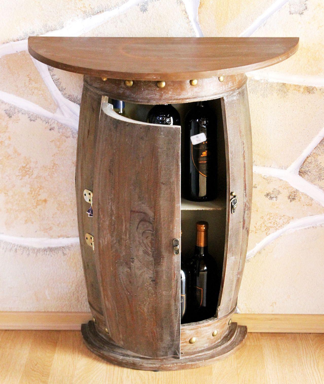 wandtisch tisch weinfass 0373 r braun schrank weinregal fass 73cm beistelltisch kaufen bei. Black Bedroom Furniture Sets. Home Design Ideas