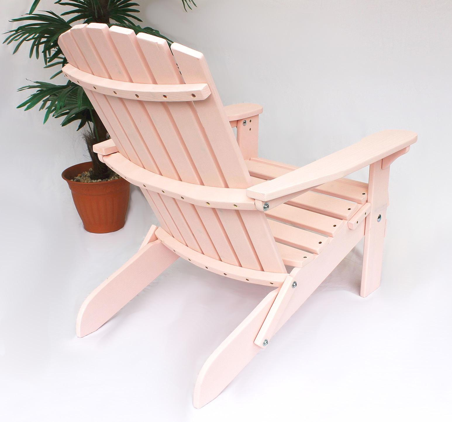 dandibo strandstuhl holz rosa gartenstuhl klappbar adirondack deckchair kaufen bei dandibo. Black Bedroom Furniture Sets. Home Design Ideas