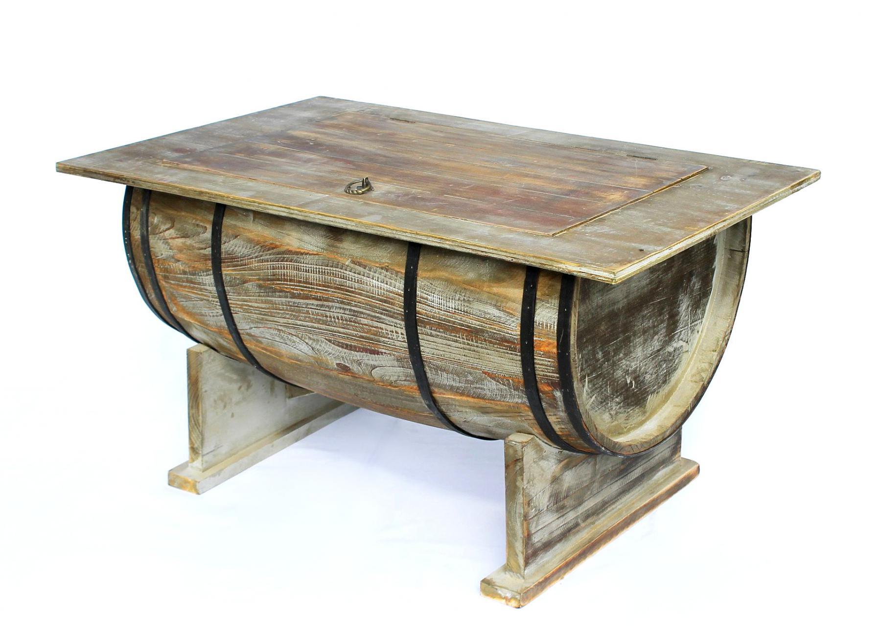 Tisch Weinfass 5084-H Couchtisch aus Holz Beistelltisch 80 cm ...