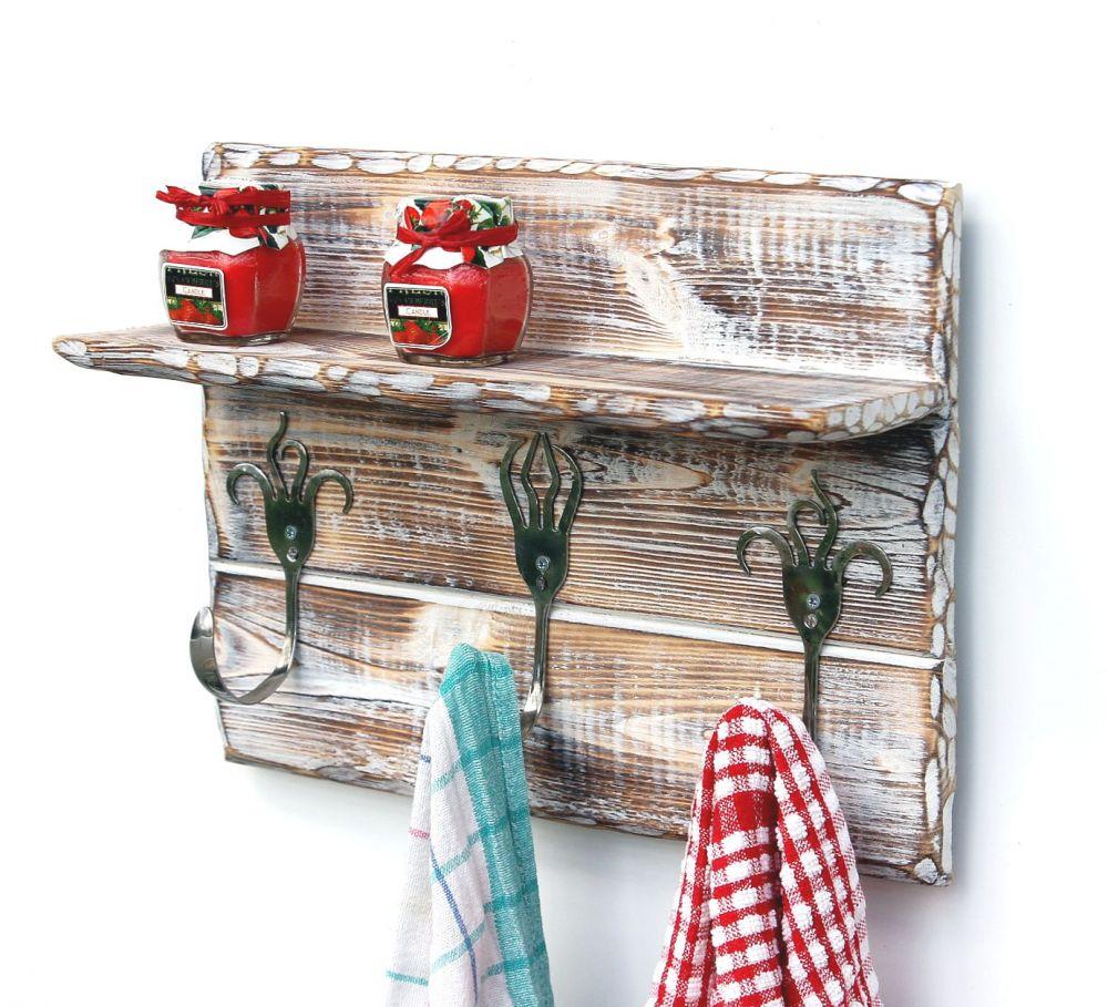 DanDiBo Handtuchhaken Handtuchleiste mit Ablage 1105