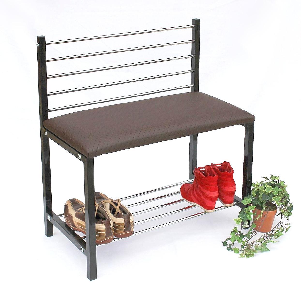 Schuhregal mit Sitzbank Art.392 Bank 70cm Schuhschrank aus Metall ...