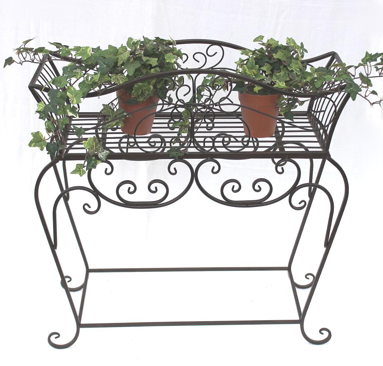 Blumenständer 72 cm Blumenbank 12554 S Metall Blumenregal Beistelltisch  Tisch