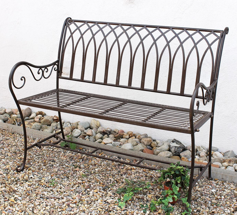 sitzbank 110 cm elegant bank romina aus metall gartenbank. Black Bedroom Furniture Sets. Home Design Ideas