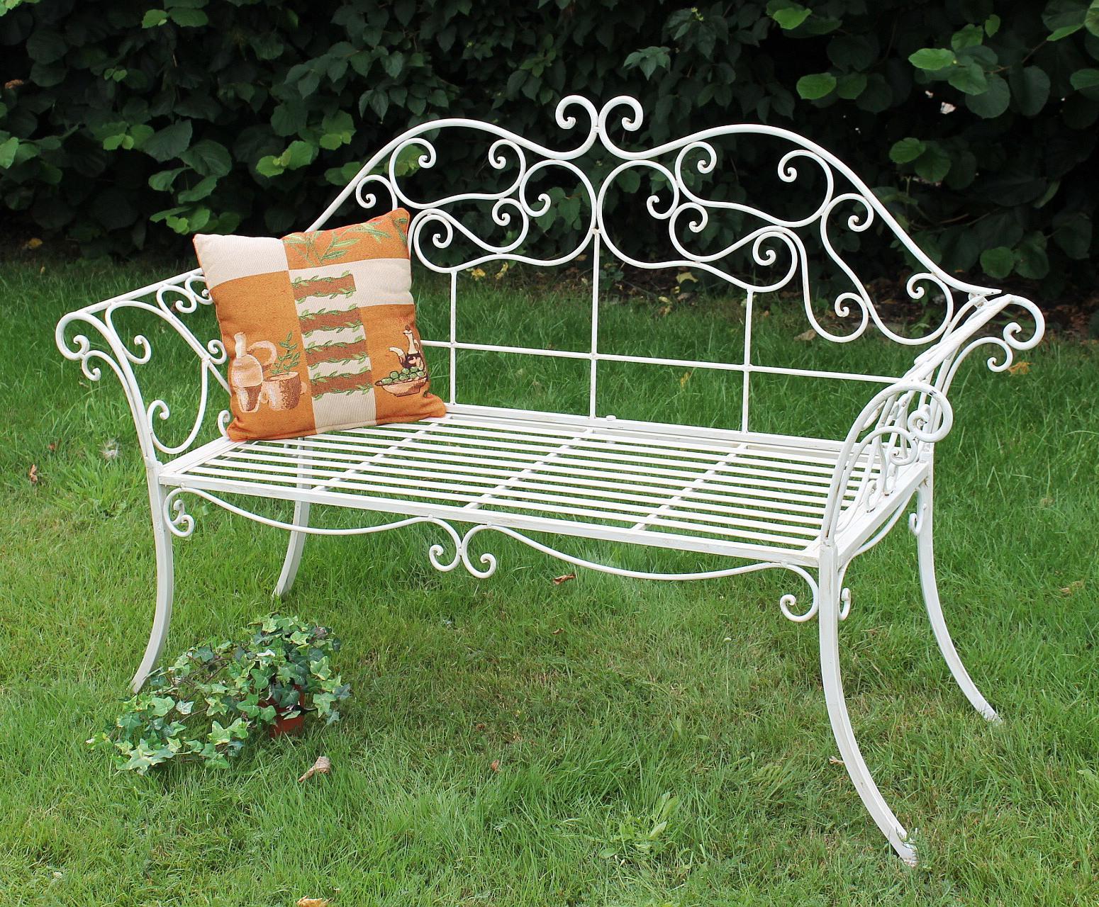 gartenbank romance wei 111183 bank 146cm aus. Black Bedroom Furniture Sets. Home Design Ideas