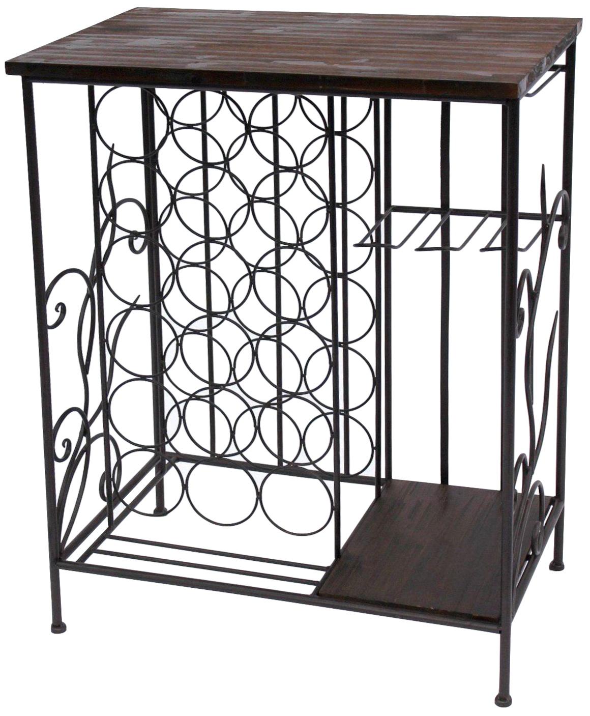weinregal mit holzablage 12977 flaschenregal mit. Black Bedroom Furniture Sets. Home Design Ideas
