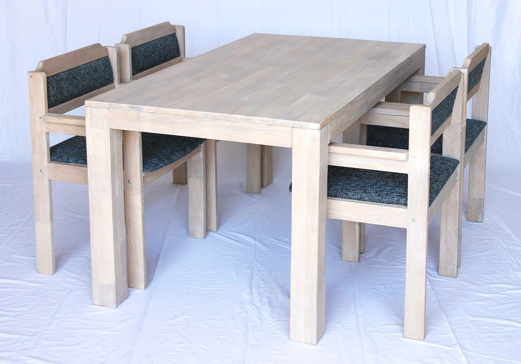 DanDiBo Sitzgruppe Esstisch 150 X 83 Mit 4 Stühlen