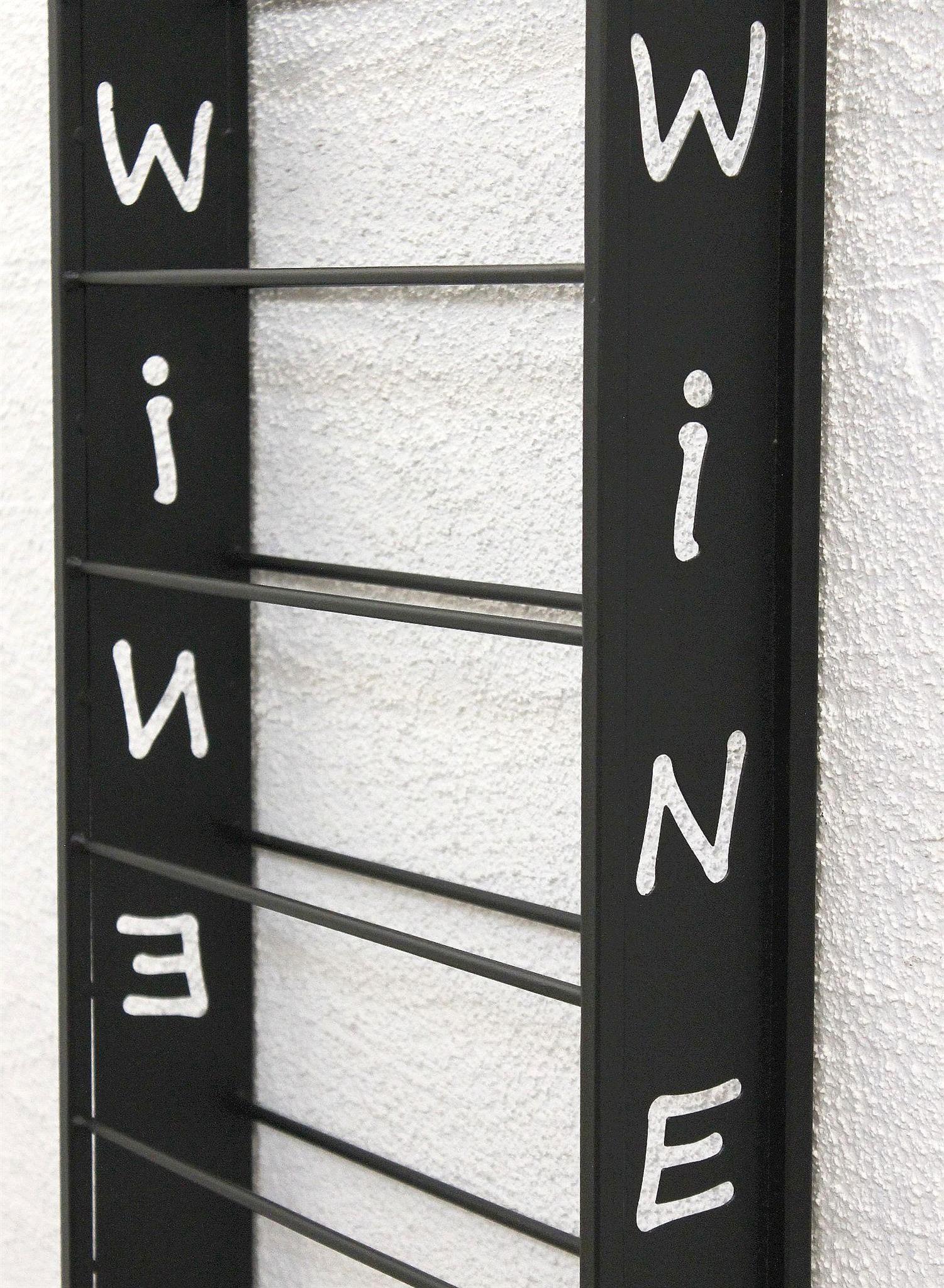 dandibo weinregal wand metall schwarz sofie flaschenst nder flaschenregal flaschenhalter. Black Bedroom Furniture Sets. Home Design Ideas