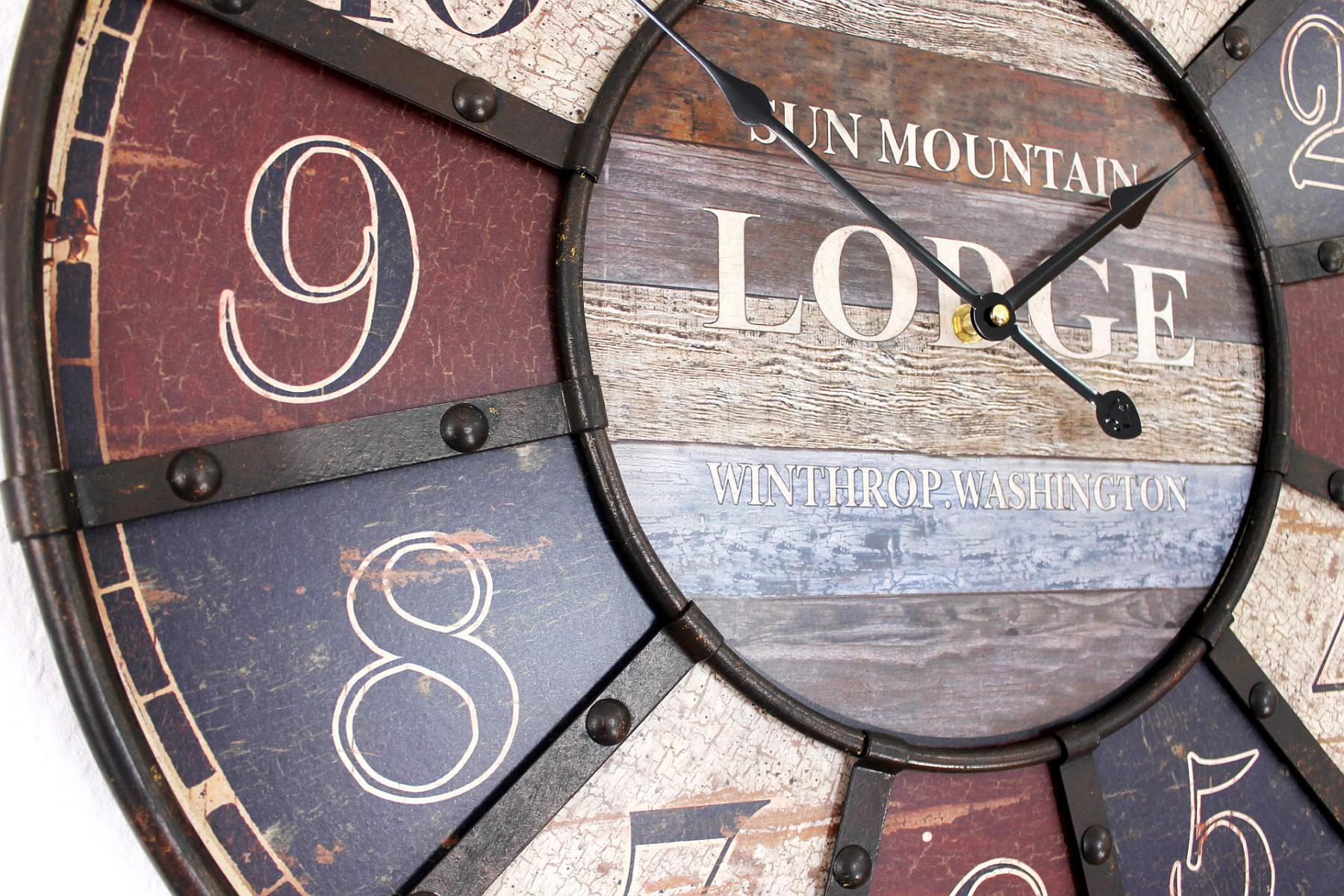 Wanduhr Lodge Shabby Uhr 84641 Loft Durchmesser 60 Cm Designuhr