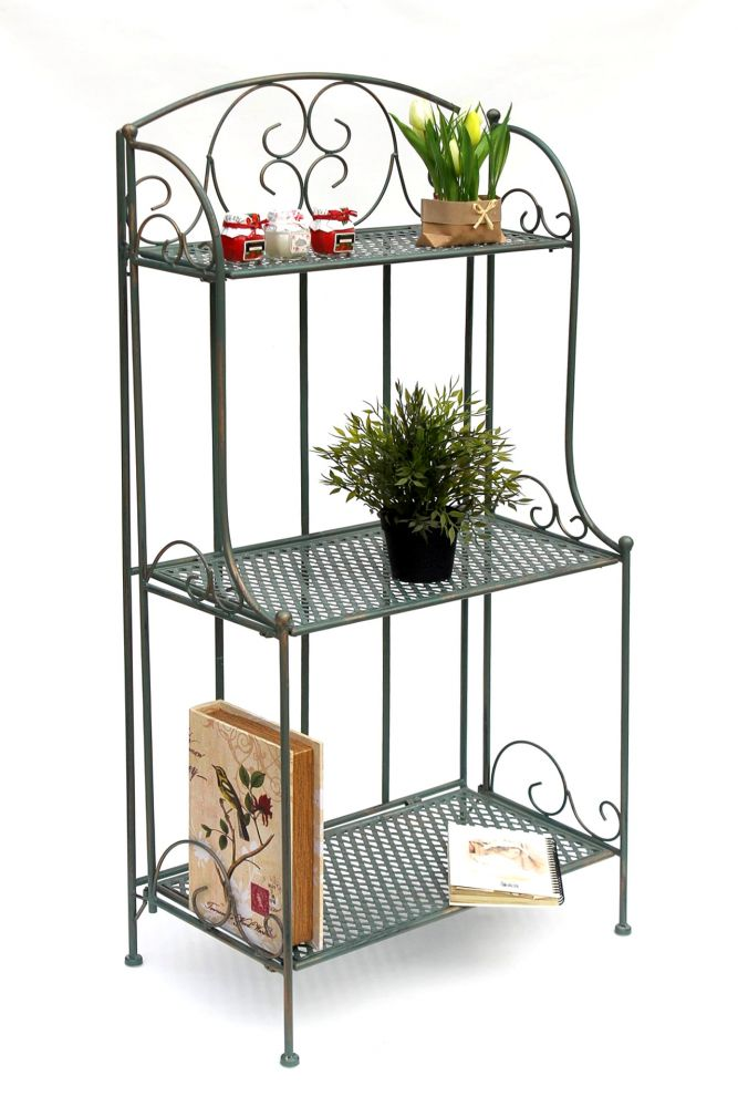 Metallregal Aufbewahrung Standregal Blumenleiter Küchen Bücher regal Badregal