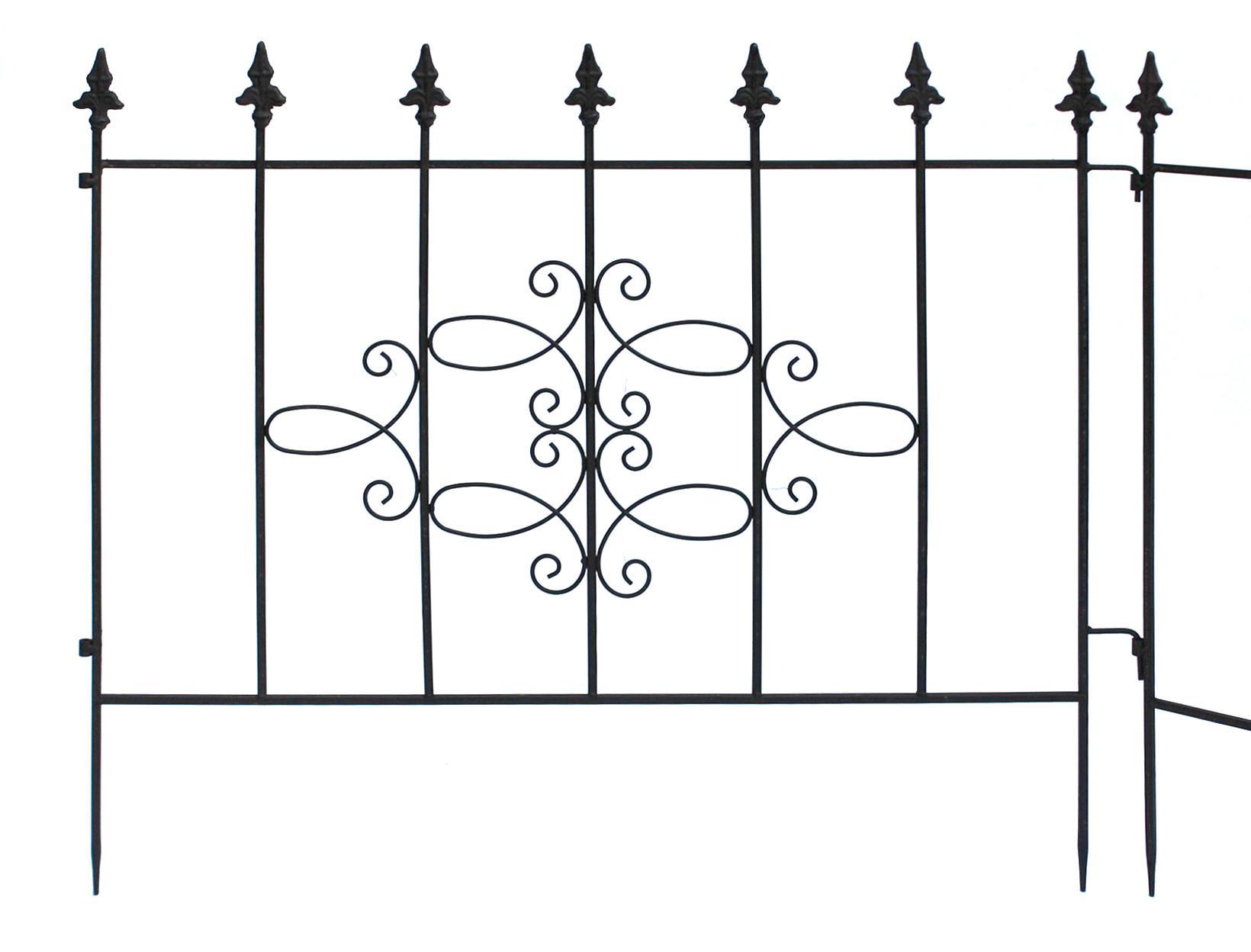 steckzaun perugia 20689 rankhilfe rankgitter aus metall b 75cm kletterhilfe zaun kaufen bei. Black Bedroom Furniture Sets. Home Design Ideas