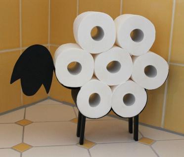 DanDiBo Toilettenpapierhalter Schwarz Metall Schaf WC Rollenhalter Freistehend WC Papierhalter Toilettenrollenhalter Lustig - Vorschau 5