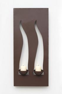 Wandleuchter Flamme 13311 Kerzenleuchter für 2 Kerzen Wandkerzenhalter aus Metall Kerzenhalter. - Vorschau 2