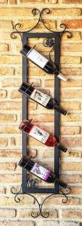 Weinregal Vino 130cm Diagonal aus Metall Flaschenständer Wandregal Bar Flaschenhalter - Vorschau 2