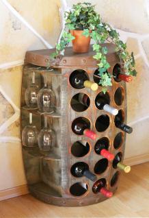 Weinregal Weinfass Nr.1486 Beistelltisch Schrank Fass aus Holz 72cm Weinbar Bar