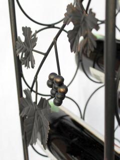 DanDiBo Weinregal Metall Schwarz 100 cm JD130665 Flaschenregal Flaschenhalter Weinständer Weinschrank Weinflaschenhalter Vintage - Vorschau 4