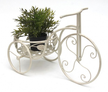 Pflanzfahrrad mit Korb Garten Metall Blumenständer Schmiedeeisen Blumen Fahrrad Deko Klein Blumenhocker Metallfahrrad
