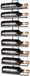 Weinregal aus Metall in Schwarz für die Wandmontage 4-Wine 2er Set erweiterbar Flaschenständer Flaschenregal Flaschenhalter